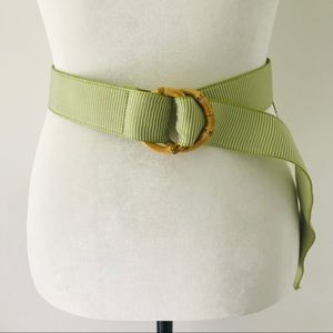 J. Crew | Adjustable Bamboo Fabric Belt